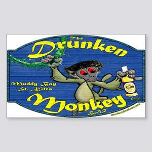 Drunken Monkey Rectangle Sticker